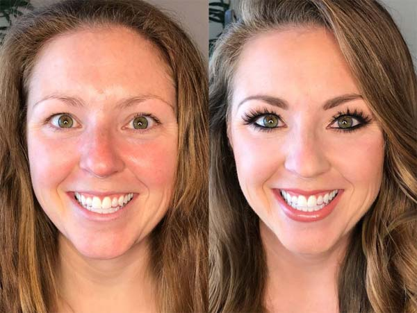 airbrush wedding makeup before and after